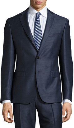 Hugo Boss Reyno/Wave Extra Slim Wool Two-Piece Suit, Open Blue $785 thestylecure.com