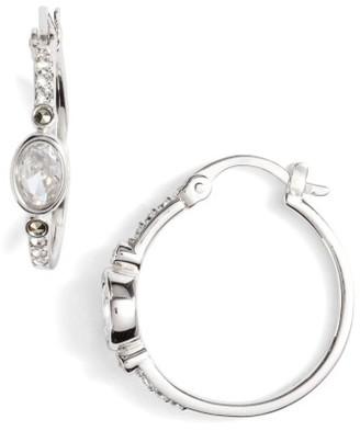 Women's Judith Jack Semiprecious Stone Hoop Earrings $98 thestylecure.com