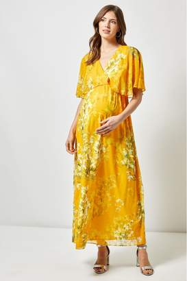 c0fceaaf1f4b0a Dorothy Perkins Womens Maternity Floral Occasion Dress - Yellow