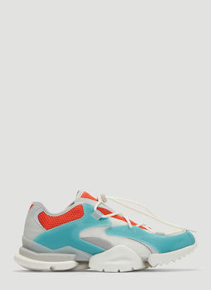 Reebok Run R 96 Sneakers in White and Blue