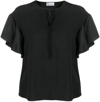 RED Valentino ruffle sleeve blouse