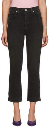 Amo Black Chloe Crop Piping Jeans