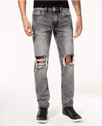GUESS Men's Slim Tapered Fit Destroyed Jeans