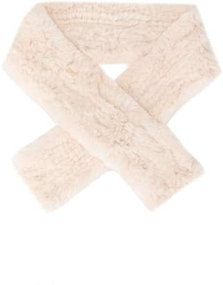 Yves Salomon Enfant fur wrap scarf
