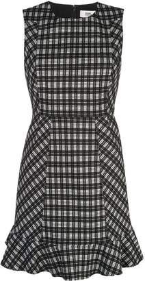 Diane von Furstenberg checked A-line dress