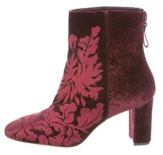 Alexandre Birman Regina Embroidered Ankle Boots w/ Tags