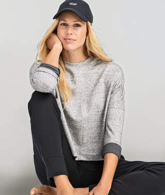 Vineyard Vines Long-Sleeve Cropped Crew Neck Knit Top