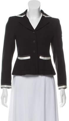 Chanel Notch-Lapel Button-Up Blazer