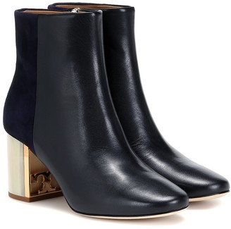 Tory Burch Gigi leather and suede ankle boots