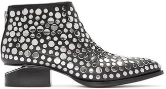 Alexander Wang Black Studded Kori Boots $695 thestylecure.com