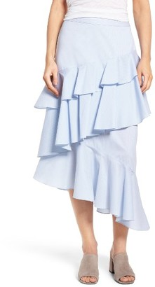 Women's Chelsea28 Ruffle Midi Skirt $89 thestylecure.com