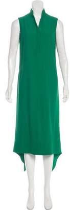 Akris Punto Sleeveless Crepe Midi Dress