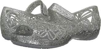 Crocs Girls' Isabella Glitter PS Ballet Flat