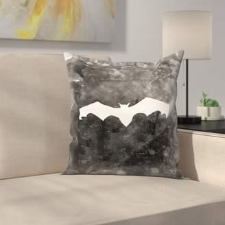 East Urban Home Jetty Printables Bat Halloween Throw Pillow
