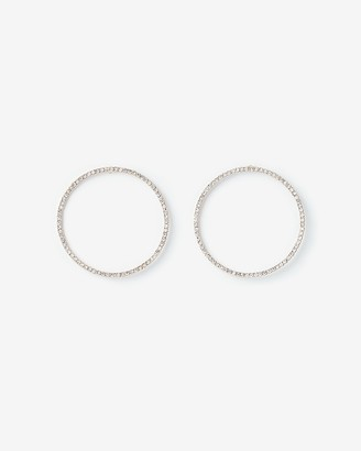 Express Pave Circle Hoop Earrings