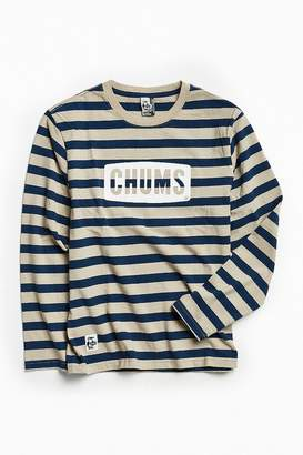 Chums Boat Logo Striped Long Sleeve Tee