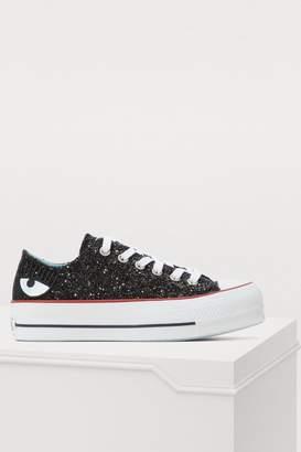 Chiara Ferragni Converse sequined denim sneakers
