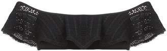 Jonathan Simkhai crochet ruffle bikini top