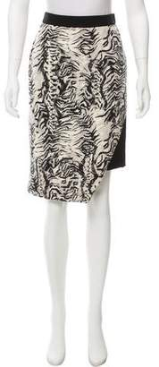 Ungaro Printed Asymmetrical Skirt