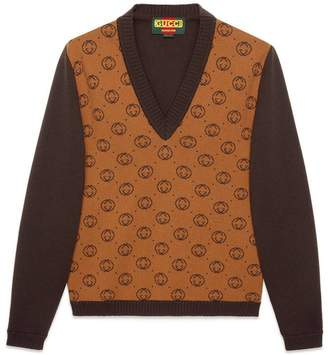 Gucci Dapper Dan GG wool sweater