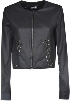 Love Moschino Studded Leather Jacket