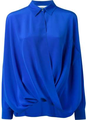 Moschino draped shirt