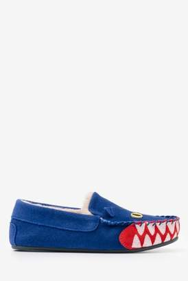 Next Boys Boden Blue Dragon Suede Slipper