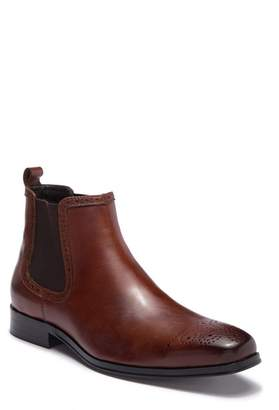 Tallia Samuele Brogue Leather Chelsea Boot
