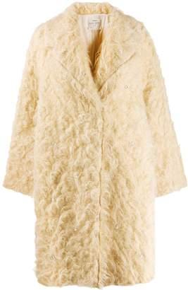 Forte Forte fuzzy oversized coat