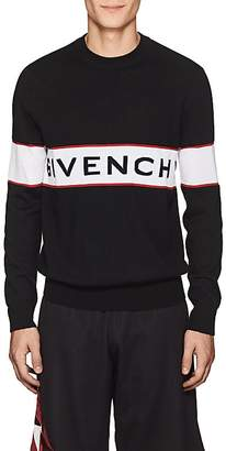 Givenchy Men's Logo-Knit Wool Sweater
