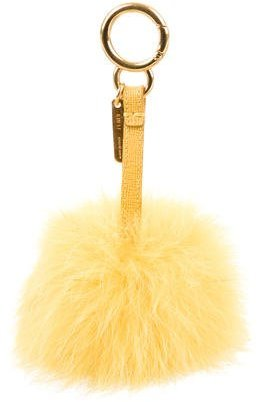 FendiFendi Fox Fur Pom-Pom Charm