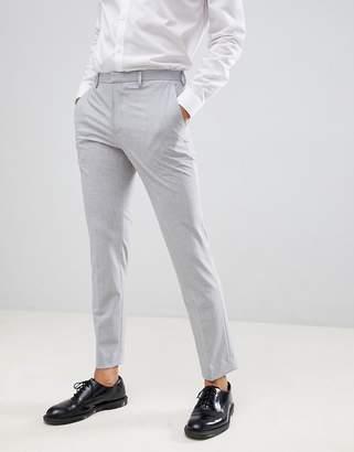 Burton Menswear Slim Fit Suit Pants In Light Grey