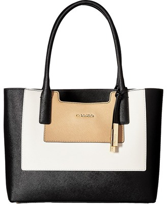 Calvin Klein Key Item Saffiano Leather Tote $198 thestylecure.com