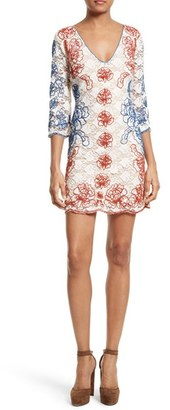 Women's Tracy Reese Embroidered Lace Minidress $398 thestylecure.com