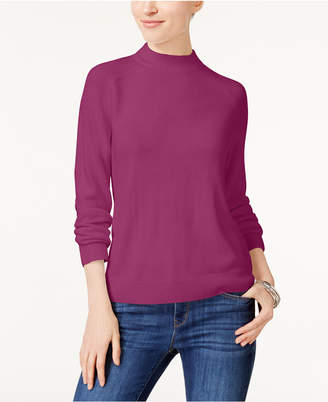 Karen Scott Luxsoft Mock-Neck Sweater