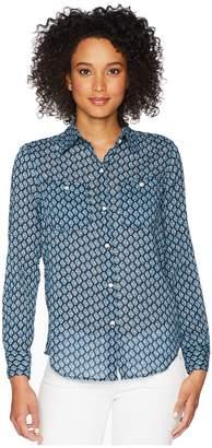 Chaps Button-Down Shirt Women's Long Sleeve Pullover