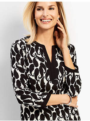 Talbots Shadow Paisley Tunic Top