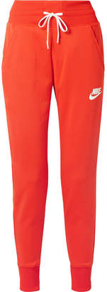 Nike Striped Stretch-jersey Track Pants - Tomato red