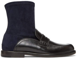 Loewe Black and Navy Sock Boots
