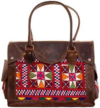 Vintage Addiction Large Vintage Leather Carryall Bag