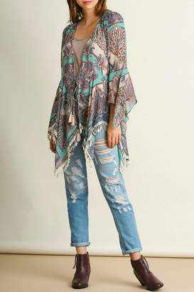 Umgee USA Fringed Sheer Kimono
