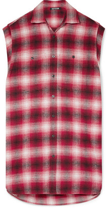 Adaptation - Oversized Checked Cotton-flannel Shirt - Red