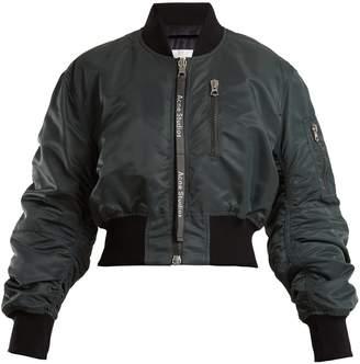 Aila cropped padded bomber jacket