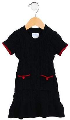 Luli & Me Girls' Cable Knit Sweater Dress