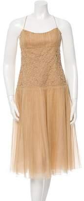 Akris Crochet-Accented Midi Dress w/ Tags