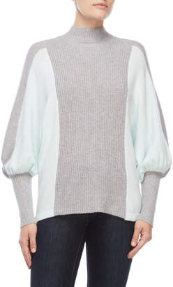 Vince Camuto Petite Dolman Sleeve Two-Tone Sweater