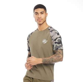 1b68a6c1 Loyalty And Faith Mens Vendor Camo Print Raglan T-Shirt Khaki