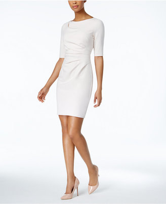 Betsey Johnson Draped-Front Sheath Dress $148 thestylecure.com