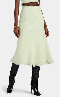 Alexander Wang Women's Fringed Bouclé Tweed Midi-Skirt - Yellow