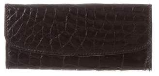 Fendi Embossed Leather Key Pouch